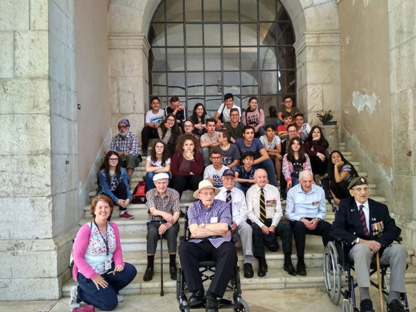 Montecassino War Tours in the Abbey with Veterans