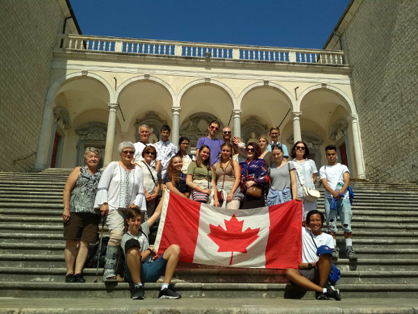 Montecassino war tours with Canadian students