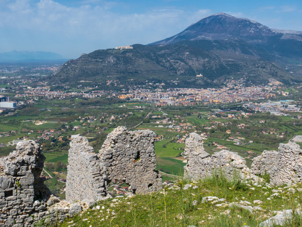 The Allies view from the top on Trocchio hill