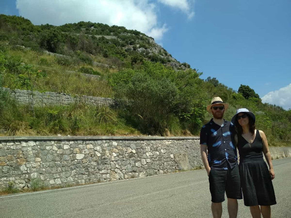 Next to Hangman's hill with Monte Cassino War Tours
