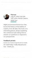 Airbnb reviews on Monte Cassino War Tours