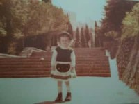 me as a child at the Polish Cemetery
