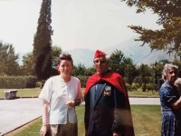In 1994, with a French Veteran from Morocco