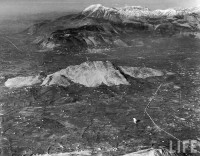 Aerial view of mount Trocchio