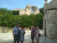 Visitors in San Pietro Infine