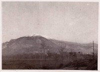 On 20th January , a German soldiers is observing Montecassino and Mount Cairo. The Abbey was still ther.